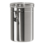 Oggi Stainless Steel 60 Ounce Canister with Airtight Acrylic Clamp Lid