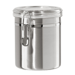 Oggi Stainless Steel 52 Ounce Canister with Airtight Acrylic Clamp Lid