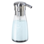 Oggi Acylic and Satin Finish Stainless Steel 12 Ounce Soap Foam Dispenser