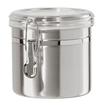 Oggi Stainless Steel 42 Ounce Canister with Airtight Acrylic Clamp Lid