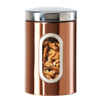 Oggi Coppertone Finish Stainless Steel 52 Ounce Canister with Window