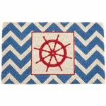 Entryways The Wheel Non-Slip Handwoven Coconut Fiber Coir 17 x 28 Inch Doormat
