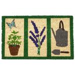 Entryways Garden Tools Non-Slip Handwoven Coconut Fiber Coir 17 x 28 Inch Doormat