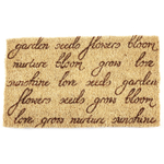 Entryways Seed Grow Bloom Handwoven Coconut Fiber Coir 18 x 30 Inch Doormat