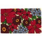Entryways Forget-Me-Nots Non-Slip Handwoven Coconut Fiber Coir 17 x 28 Inch Doormat