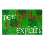 Entryways Dear Santa Non-Slip Handwoven Coconut Fiber Coir 17 x 28 Inch Doormat
