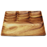 Pacific Merchants Acaciaware 11 x 11 Inch 4 Section Square Tray