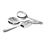 Nambe Dazzle Stainless Steel 3 Piece Hostess Set