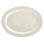 Bonjour White Stoneware 10 x 14 Inch Oval Platter