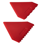 Cake Boss Red 2 Piece Triangle Icing Comb Set