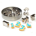 Cake Boss Stainless Steel 9 Piece Numbers 0 to 9 Cookie Cutter Set