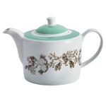 Bonjour Porcelain Floral 34 Ounce Teapot