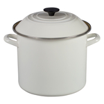 Le Creuset White Enamel on Steel 10 Quart Stockpot
