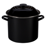 Le Creuset Black Onyx Enamel on Steel 10 Quart Stockpot