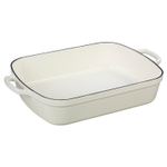 Le Creuset Signature White Enameled Cast Iron 5.25 Quart Rectangular Roaster