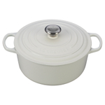 Le Creuset Signature White Enameled Cast Iron 5.5 Quart Round Dutch Oven