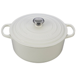 Le Creuset Signature White Enameled Cast Iron 7.25 Quart Round Dutch Oven