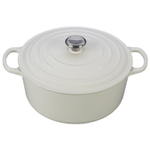 Le Creuset Signature White Enameled Cast Iron 9 Quart Round Dutch Oven