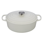 Le Creuset Signature White Enameled Cast Iron 6.75 Quart Oval Dutch Oven