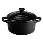 Le Creuset Black Onyx Stoneware 8 Ounce Round Mini Cocotte