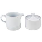 Le Creuset White Stoneware Cream and Sugar Set