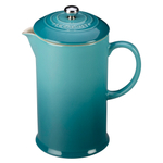 Le Creuset Caribbean Stoneware 27 Ounce French Press Coffee Maker