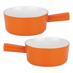 Mario Batali by Dansk Persimmon Enameled Stoneware Soup Bowl, Set of 2