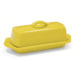 Chantal Canary Yellow Stoneware 8.5 Inch Butter Dish