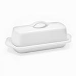 Chantal Glossy White Stoneware 8.5 Inch Butter Dish