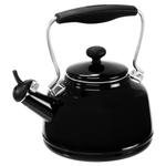 Chantal Glossy Black Enamel On Steel 1.7 Quart Vintage Teakettle