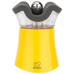 Peugeot Pep's Yellow Acrylic 3 Inch Combination Salt Shaker and Pepper Mill