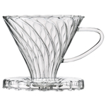 HIC Harold Import Co Glass Pour-Over Coffee Filter Cone