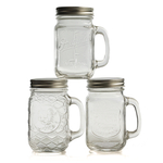 Grant Howard Assorted 16 Ounce Covered Mason Mug, Set of 6