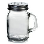 Grant Howard Glass Mini Mason Jar 4 Ounce Spice Shaker, Set of 12