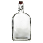 Grant Howard Glass Flask Clip Top 18 Ounce Cruet, Set of 12