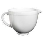 KitchenAid KSMCB5LW White Chocolate Ceramic 5 Quart Mixing Bowl