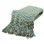 "Bedford Cottage Olive Green and Blue 50 x 60""  Throw Blanket"