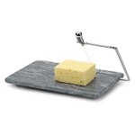 RSVP Polished Grey Marble 8 x 5 Inch Cheese Slicer Board