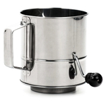 RSVP Endurance Stainless Steel Crank Style 3 Cup Flour Sifter