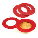 Norpro Red Silicone Mini Pie Crust Pan Shield, Set of 4