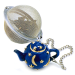 Norpro Stainless Steel 2 Inch Mesh Infuser Ball with Teapot Weighted Charm