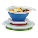 Progressive Prepworks Thinstore 3 Piece Collapsible Storage Bowl Set