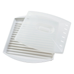 Progressive White Microwaveable Bacon Grill with Vented Cover