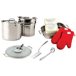 All-Clad Stainless Steel 7 Piece Pizza and Pasta Set With Free 4 Piece Lasagna Set