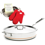 All-Clad Copper Core 6 Quart Covered Saute Pan With Free 4 Piece Lasagna Set