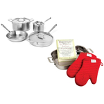 All-Clad D5 Brushed Stainless Steel 7 Piece Cookware Set With Free 4 Piece Lasagna Set