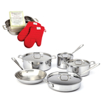 All-Clad Stainless Steel 9 Piece Cookware Set With Free 4 Piece Lasagna Set