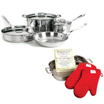 All-Clad Copper Core 7 Piece Cookware Set With Free 4 Piece Lasagna Set