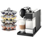 DeLonghi Lattissima Plus EN520W White Nespresso Capsule Espresso and Cappuccino Machine with Bonus 40 Capsule Carousel