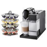DeLonghi Lattissima Plus EN520SL Silver Nespresso Capsule Espresso and Cappuccino Machine with Bonus 40 Capsule Carousel